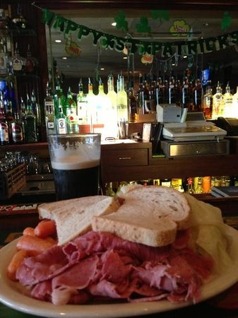 Ellisville, MO:                   corned beef and cabbage at the bar