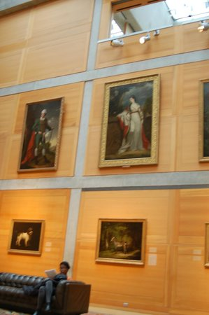 Yale Center for British Art: in one of the halls of the center