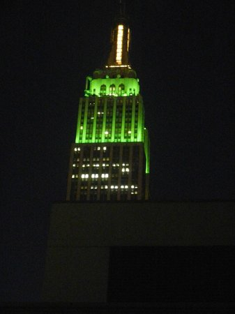 Hotel Pennsylvania New York: Vue sur l'Empire State Building
