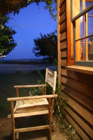 Brickendon Estate: sit here and take in the views - under the protection of insect repellent