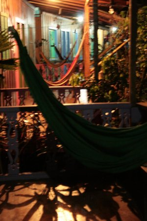 Playa Chiquita Lodge: Hammocks on the front porches