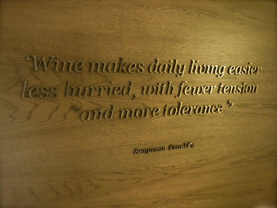 Andaz Napa: wine quote