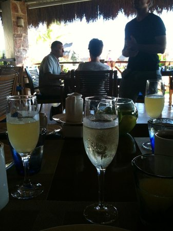 Azul Beach Hotel, by Karisma:                                     Champagne mimosas for breakfast! Included in the gourmet inc