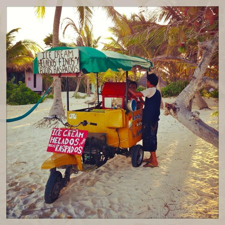 La Zebra Hotel, Tulum:                   Salvador, the ice cream guy