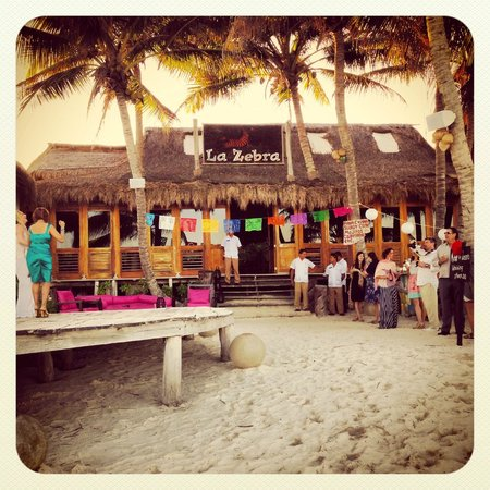 La Zebra Hotel, Tulum:                   Wedding Reception