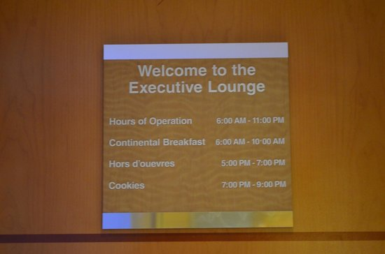‪‪Hilton San Francisco Airport Bayfront‬:                   Executive lounge Hours