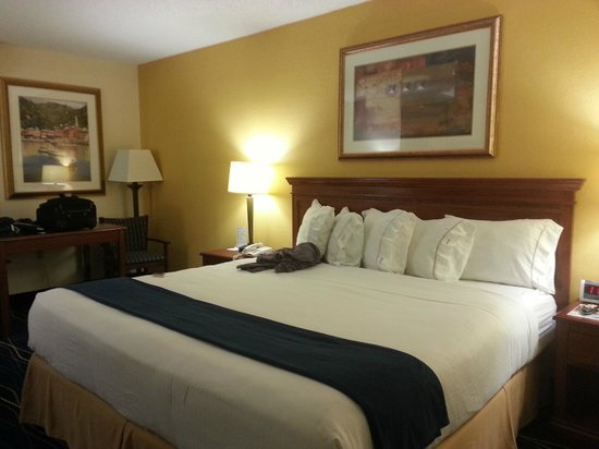 Holiday Inn Express Hotel &amp; Suites Jacksonville South:                   Bedroom and wall coverings
