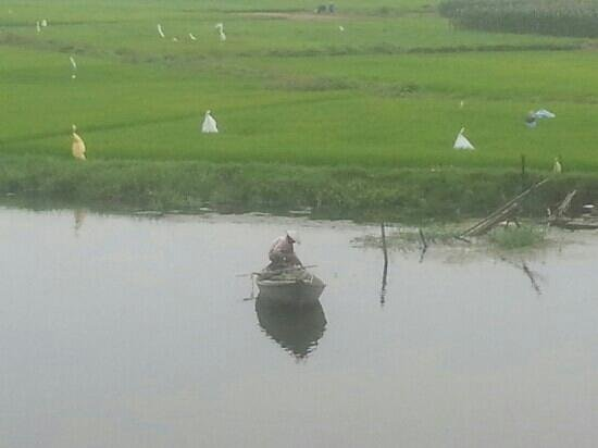 Hoi An Riverside Resort & Spa: fisherman from our balcony