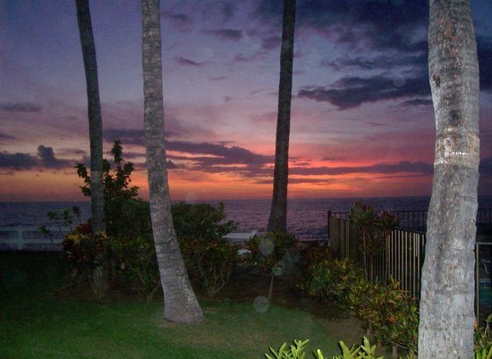 Wyndham Royal Sea Cliff: Sunset from our lanai