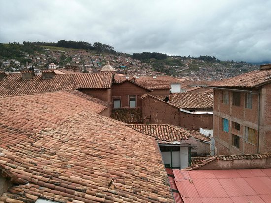 Milhouse Backpackers & Hotel: View of Cusco from the bar