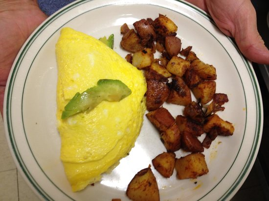 Graeagle, Kalifornia: Bacon and avocado omelet!