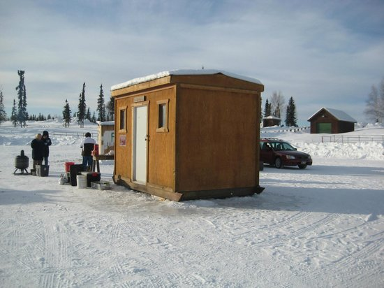 Ice fishing chena lakes picture of fairbanks alaska for Fishing in fairbanks alaska
