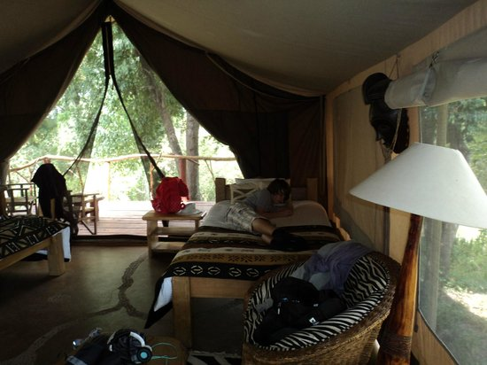 Olumara Tented Camp: my cozy son