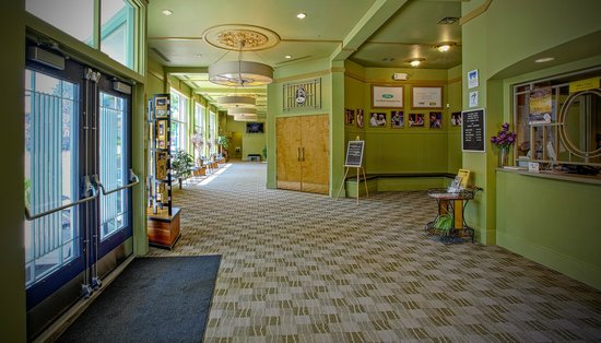 Chelsea, MI: The lobby of the Purple Rose Theatre