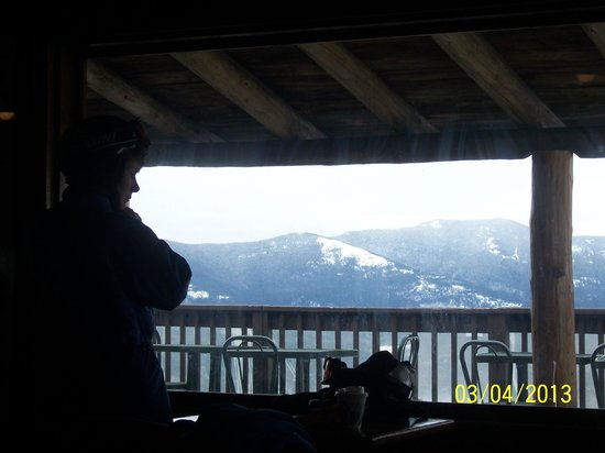 Holiday Inn Express North Conway: Lodge view at Top of Cranmore Ski area