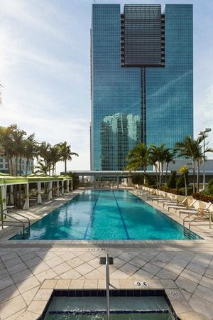 Conrad Miami: view from Jacuzzi