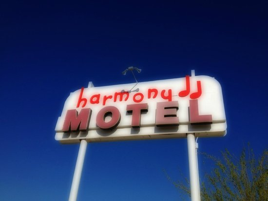 Harmony Motel: iconic sign (see U2 cover art for The Joshua Tree)