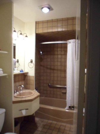 Comfort Inn Monterey Bay: Cute, but rather small bathroom.