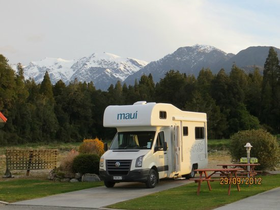 Franz Josef TOP 10 Holiday Park: Vista de los glaciares