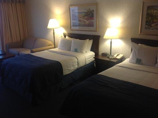 Clarion Resort Fontainebleau Hotel: 2 comfortable doubles and twin sofabed