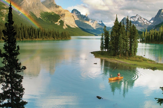 Альберта, Канада: Maligne Lake, Jasper National Park