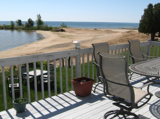 Baileys Harbor, WI: Looking at beach fron Deck