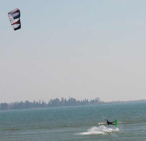 Baileys Harbor, WI: Watch the kite boarders