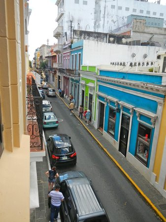 Hotel Milano: View down Fortaleza Street from our second floor room