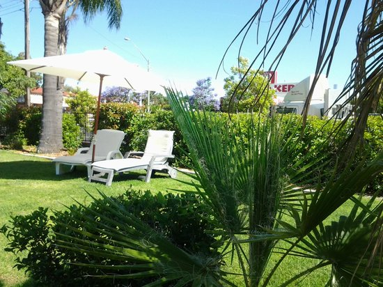 Country Leisure Motor Inn: Our oasis in the pools BBQ area