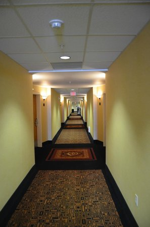 Comfort Suites Barstow: Long second floor hallway.