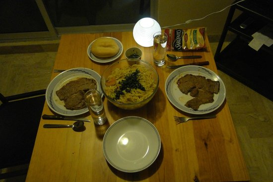 Xtudio Comfort Hotel: We prepared a dinner in the apartment - good beef...