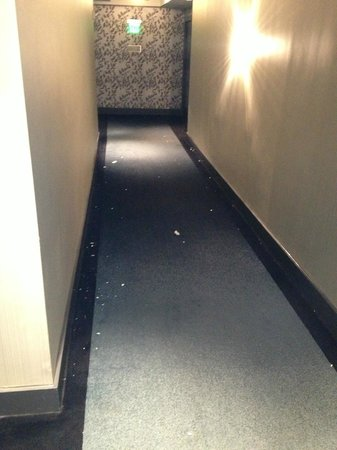 W Atlanta Midtown: Hallway outside of room, remained all day