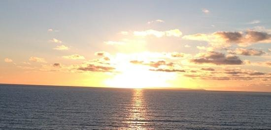 Mortehoe, UK: sunset over lundy