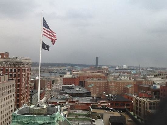 The Providence Biltmore: view south on a late, snowy day