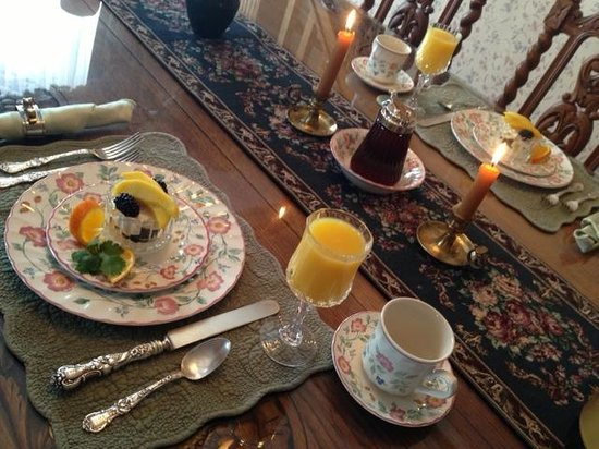 Best Kept Secret B & B: first course of breakfast!