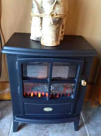 Lamesley, UK: Cosy electrical fire in the garden room