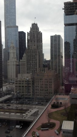 Embassy Suites Hotel Chicago Downtown Lakefront: view of Chicago skyline from our room
