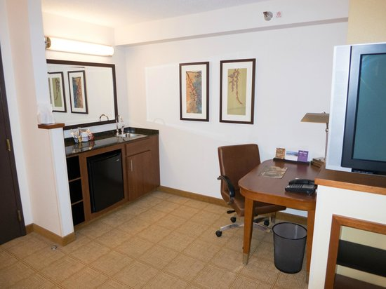 Hyatt Place Kansas City Airport: Desk area
