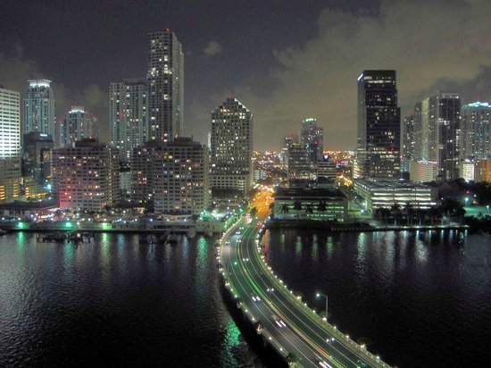 Mandarin Oriental, Miami: City view from Balcony
