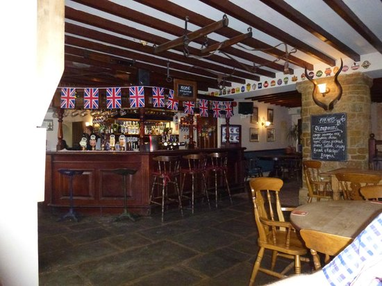 Hook Norton, UK: Inside the bar area