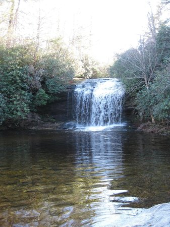 Lake Toxaway, Kuzey Carolina: Hike to Schoolhouse Falls