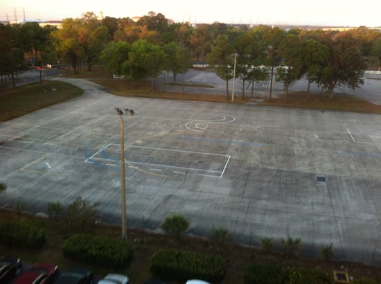 Radisson Resort Orlando-Celebration: Vast space used for motorcycle training
