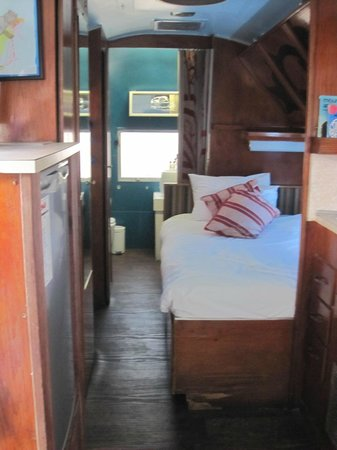 Grand Daddy Hotel: inside an airstream trailer (Goldilocks)
