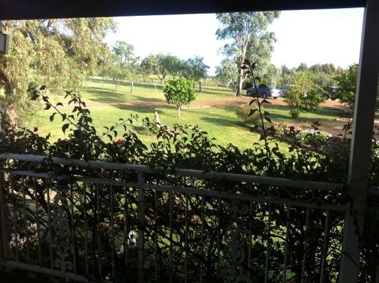 Willow Tree Estate: view from verandah of spa room