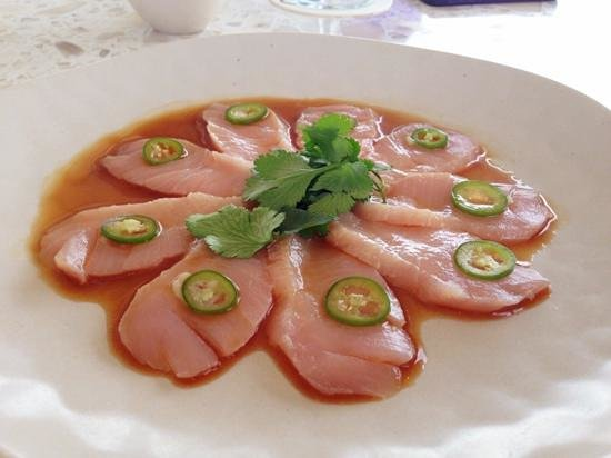 Fisher Island Hotel &amp; Resort : hamachi jalapeo is delicious and quite refreshing after a day at the beach 