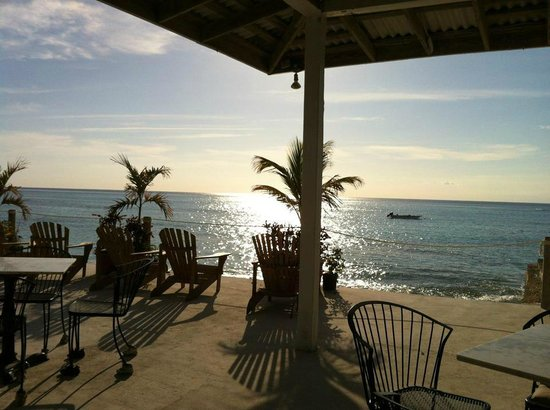 Osprey Beach Hotel: overlooking the Caribbean from the pool area, at sunset