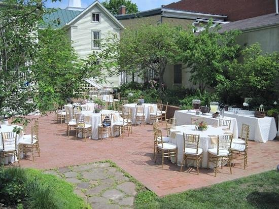 Jonesborough, TN: Anniversary lucheon held for my parents on the garden patio at the Inn