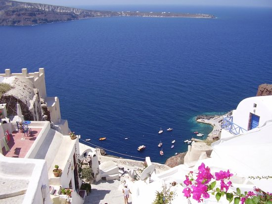 Kafouros Hotel: view from oia
