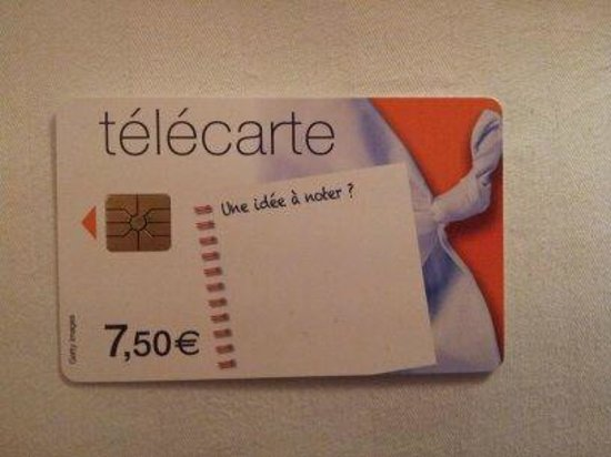 Hotel Neva - Paris: Tarjeta de Telefono