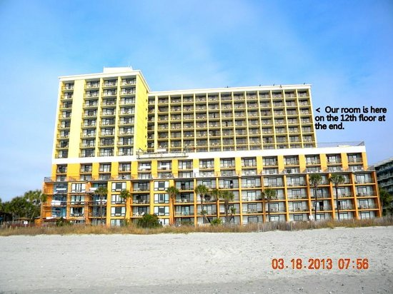 view down the beach picture of caravelle resort myrtle. Black Bedroom Furniture Sets. Home Design Ideas